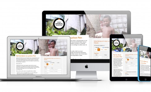 Responsive e-mail template World Animal Protection
